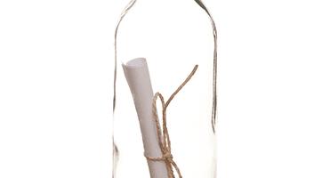 botella con mensaje